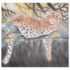 陈杰 豹 87×94cm  约7.4平尺