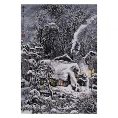 林岩 春雪 98×68cm