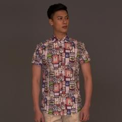 丰雷定制 时尚单品系列 19S-704DS 花色棉半袖衬衫