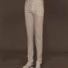 丰雷定制 时尚单品系列 19S-726DK 白色棉布长裤