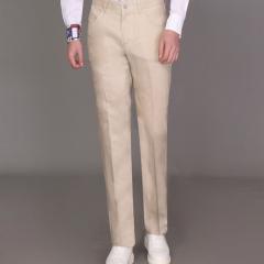 丰雷定制 时尚单品系列 19S-729FK 米色麻料长裤